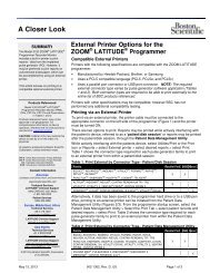 External Printer Options for the ZOOM LATITUDE ... - Boston Scientific