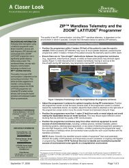 ZIP Wandless Telemetry and the ZOOM ... - Boston Scientific