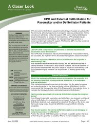 CPR and External Defibrillation for Pacemaker ... - Boston Scientific