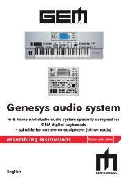GENESYS PRO S pdf - Generalmusic us