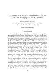 Regionalisierung hydrologischer Bodenprofile mit CART im ...