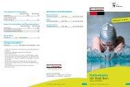 Hallenbäder der Stadt Bern - Sportamt der Stadt Bern