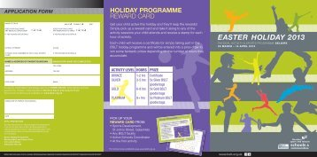 EASTER HOLIDAY 2013 - Sport Borders