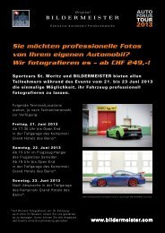 ab CHF 249 - Sportcars St. Moritz