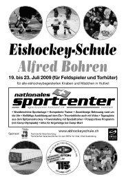 Eishockey-Schule Alfred Bohren - sportcenter-huttwil