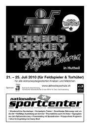 Prospekt 2010 - sportcenter-huttwil
