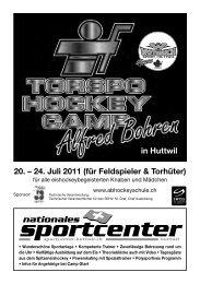 24. Juli 2011 - sportcenter-huttwil