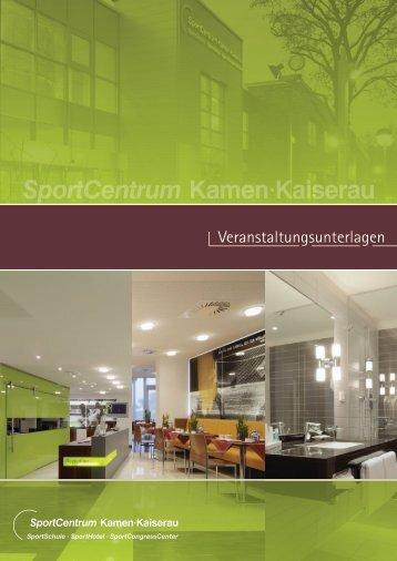 Veranstaltungsmappe (2 MB) - SportCentrum Kamen Kaiserau