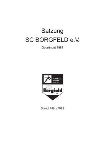 satzung sc borgfeld - SC Borgfeld e.V.