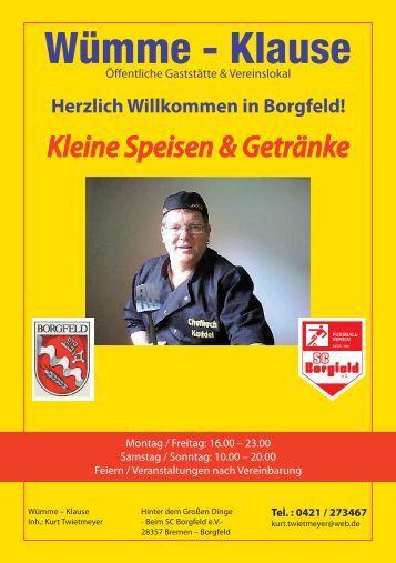 Speisen und Getränke - SC Borgfeld e.V.