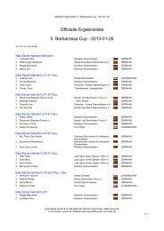 Offizielle Ergebnisliste 5. Barbarossa Cup - 2013-01 ... - Sportdata.org