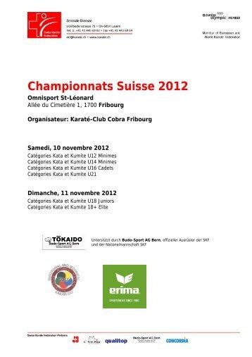 Championnats Suisse Individuels 2012, Fribourg.pdf - Sportdata.org