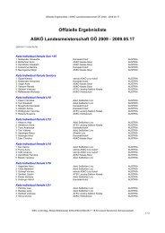 Offizielle Ergebnisliste ASKÖ Landesmeisterschaft ... - Sportdata.org
