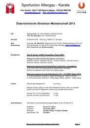Sportunion Attergau - Karate - Sportdata.org
