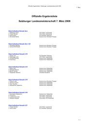 Offizielle Ergebnisliste Salzburger ... - Sportdata.org