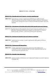 Obiettivi anno 2002 - Sportello Unico per le Imprese