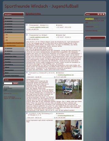 Spielberichte E3 2006_2007.pdf - Sportfreunde Windach eV