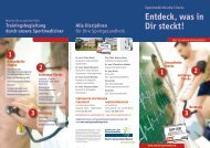 Flyer Zentrum für Sportmedizin - SPORT-GESUNDHEITSPARK ...