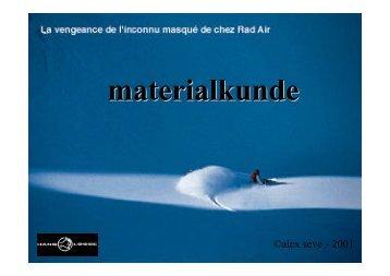 Materialkunde-Snowboard Präsentation für LCD/Overhead-Projektion