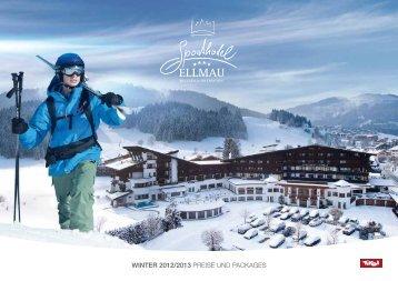 Winterpreisliste 2012/2013 - Sporthotel Ellmau