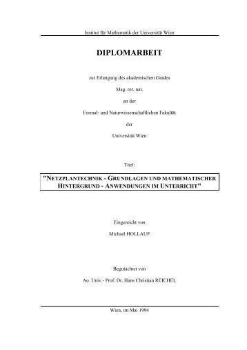 Netzplantechnik - Grundlagen und mathematischer Hintergrund