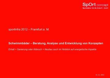 Analyse und Entwicklung unter energetischen Aspekten - Sportinfra