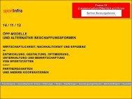 Praxisbeispiel: Vorbereitung und Grundlagen für ÖPP aus Sicht des ...