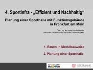 Planung einer Sporthalle mit Funktionsgebäude im Sport - Sportinfra