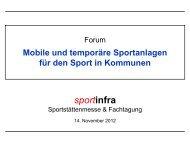 Begrüßung: Mobile und temporäre Sportanlagen - Sportinfra