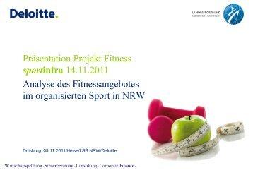 Analyse der Fitnessangebote im organisierten Sport in ... - Sportinfra