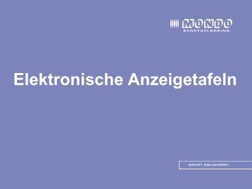 Elektronische Anzeigetafeln - Sportinfra
