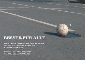 Besser für Alle: Gestaltung im öffentlichen Raum - Sportinfra
