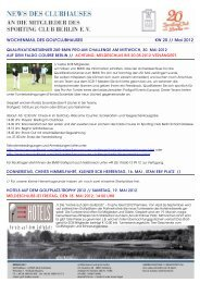 WOCHENMAIL DES GOLFCLUBHAUSES KW 20 // Mai 2012