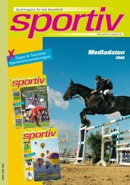 Anzeigenpreisliste - Sportiv