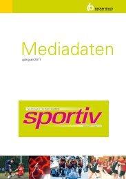 Anzeigenpreisliste (PDF) - Sportiv