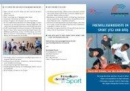Freiwilligendienste im sport (FsJ und BFd) - Sportjugend Hessen