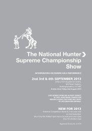 Hunter Show Schedule 2013 - Sport Horse Breeding of Great Britain