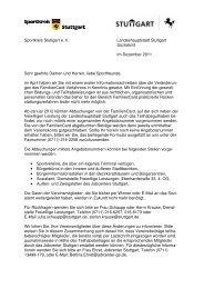 Sportkreis Stuttgart e. V. Landeshauptstadt Stuttgart Sozialamt Im ...