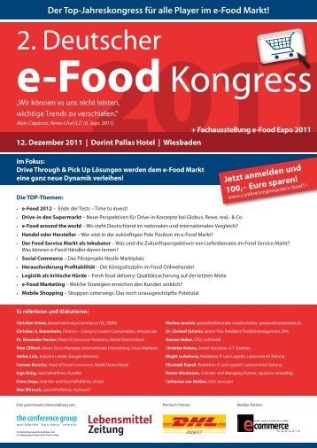 e-Food Kongress - The Conference Group GmbH