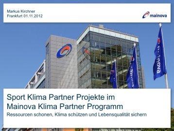 Sport Klima Partner Projekte - Sportinfra