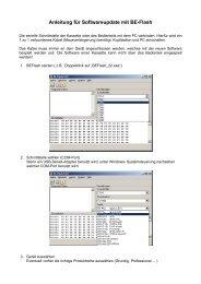 Anleitung für Softwareupdate mit BE-Flash