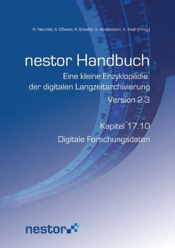 17.10 Digitale Forschungsdaten - nestor