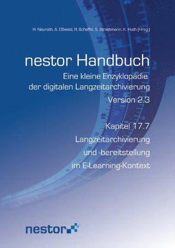 bereitstellung im E-Learning-Kontext - nestor