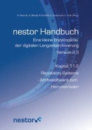 Repository Systeme - Archivsoftware zum Herunterladen - nestor