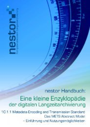 Metadata Encoding and Transmission Standard: Das METS ... - nestor