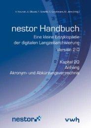 Kapitel 20 Anhang Akronym- und Abkürzungsverzeichnis - nestor