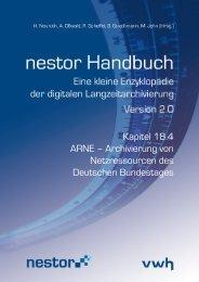 Archivierung von Netzressourcen des Deutschen ... - nestor