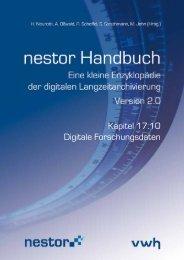 Kapitel 17.10 Digitale Forschungsdaten - nestor