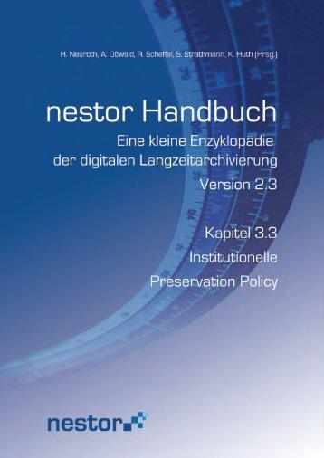 3.3 Institutionelle Preservation Policy - nestor