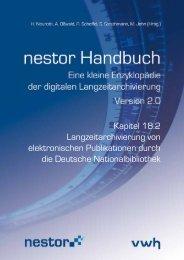 Langzeitarchivierung von elektronischen Publikationen ... - nestor